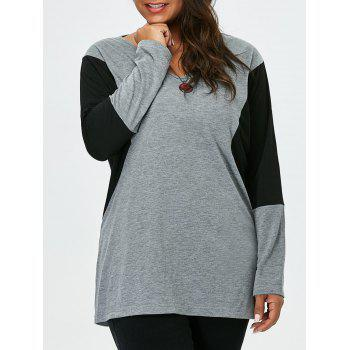 Plus Size Two Tone T-Shirt