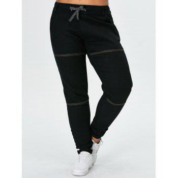 Plus Size Stitched Tapered Jeans