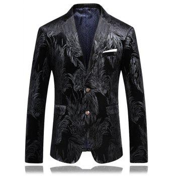 Buy Pocket Foil Print Single Breasted Blazer SILVER