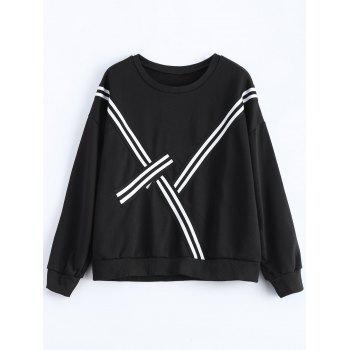 Plus Size Panel Drop Shoulder Sweatshirt