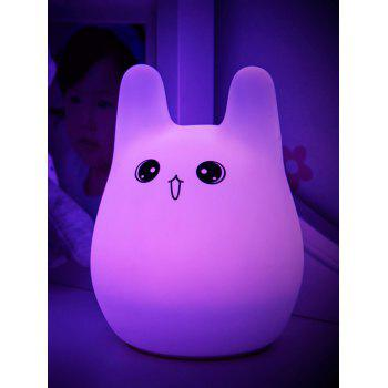 Colorful Cartoon USB Charging Silica Gel LED Night Light - COLORFUL