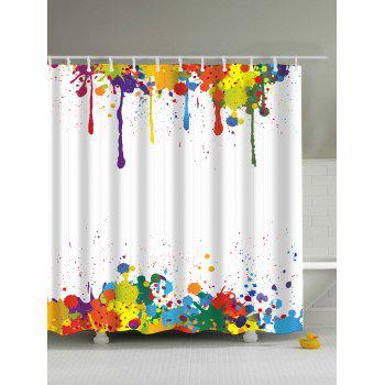 Colorful Paint Splatter Waterproof Polyester Shower Curtain
