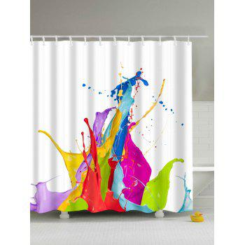 Colorful Paint Splatter Waterproof Shower Curtain Bath Decor