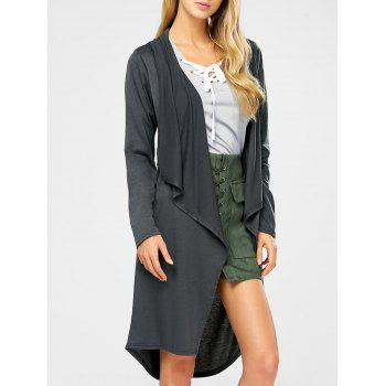 Open Drape Long Cardigan