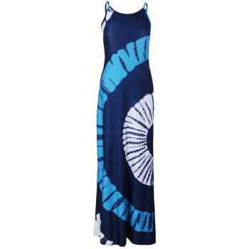 Bohemian Sector Pattern Tie Dye Maxi Dress