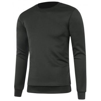 Plain Long Sleeve Crew Neck Sweatshirt