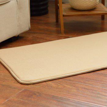 Antislip Absorbent Candy Color Bathroom Entrance Carpet -  LIGHT BROWN