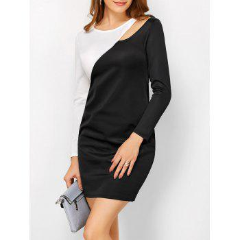 Cut Out Color Block Sheath Dress