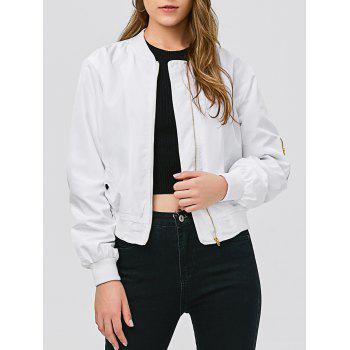 Slim Fit Short Bomber Jacket