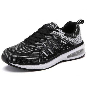 Buy Tie Colour Block Breathable Athletic Shoes WHITE/BLACK