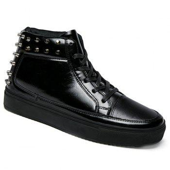 High Top Rivets Tie Up Casual Shoes