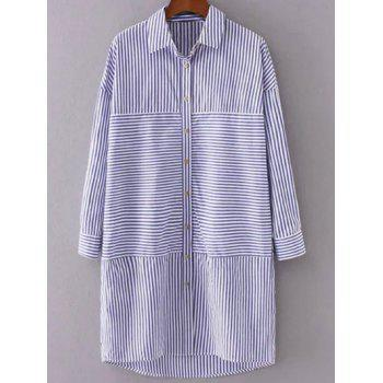 Long Sleeve Striped Shift Shirt Dress