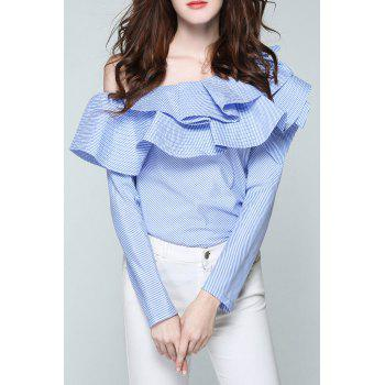 Tiered Ruffled One-Shoulder Blouse