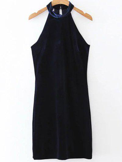 Velvet Halter Bodycon Dress