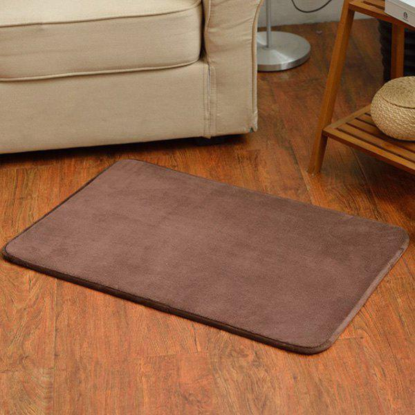 Candy Color Antislip Absorbent Bathroom Entrance Carpet - DEEP BROWN