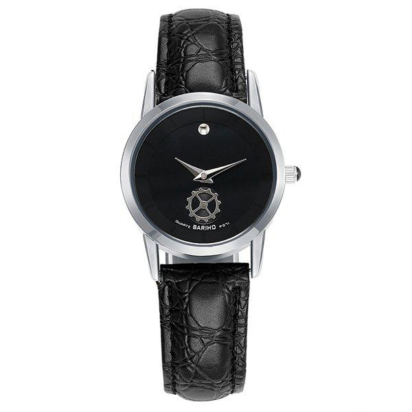 Gear Analog PU Leather Watch - SILVER