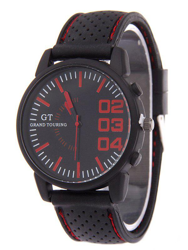 Rubber Analog Watch - RED