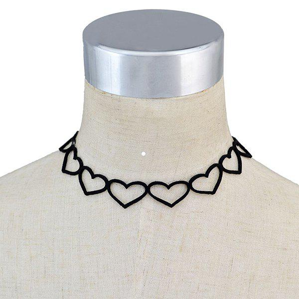 Vintage Hollowed Heart Choker Necklace