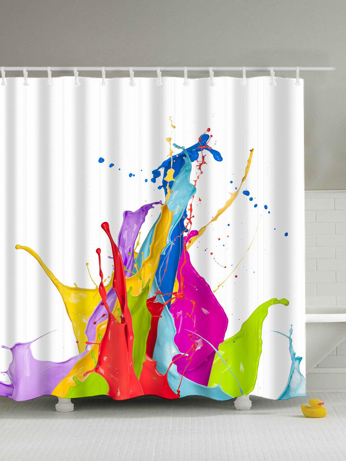 Colorful shower curtain 2