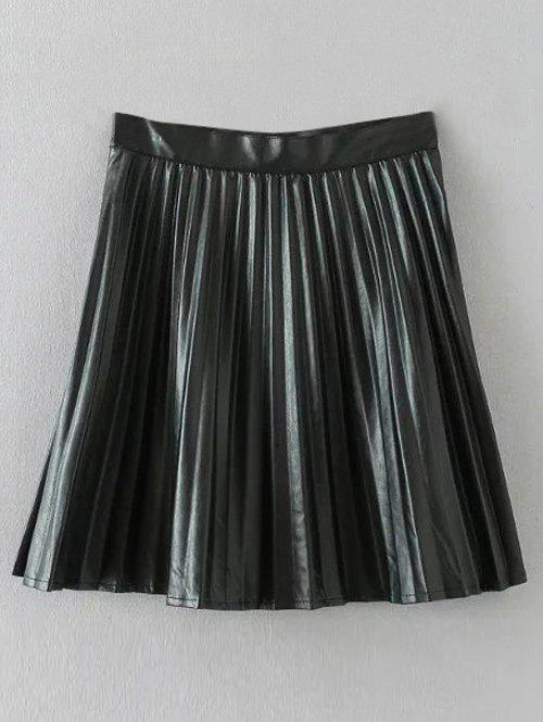 Faux Leather Pleated Mini Skirt bar iii new women s medium m white perforated faux leather pleated skirt $69