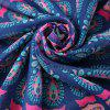 Tribal Style Bikini Boho Swimwear Arab Print Chiffon Round Beach Throw Scarf - CADETBLUE