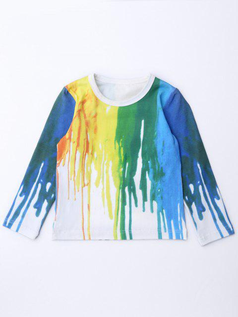 Hand-Painted Long Sleeve Tee - COLORMIX 130