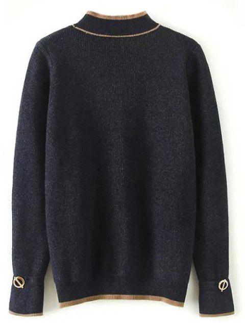 Pull Contraste Canalisé - Cadetblue ONE SIZE