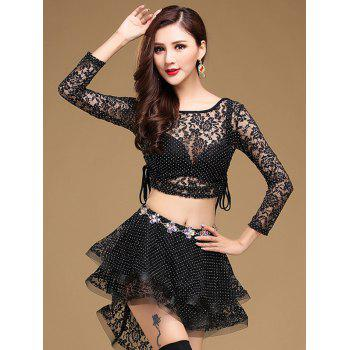 Lace Long Sleeve Top With Layered Skirt