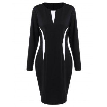 Plus Size Bodycon Dress with Long Sleeves