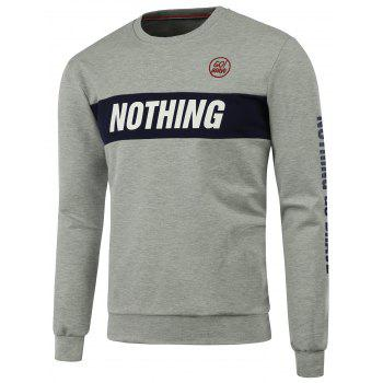 Long Sleeve Nothing Graphic Sweatshirt