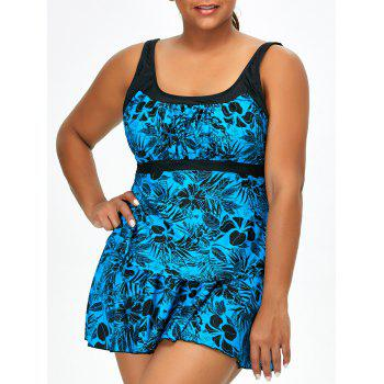 Plus Size Floral Three-Piece Swimwear