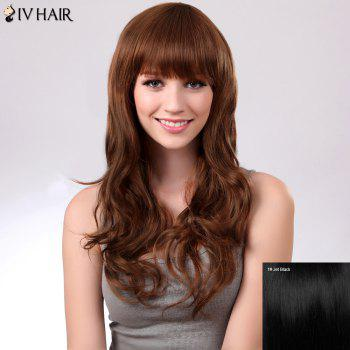 Full Bang Long Fluffy Natural Wavy Siv Human Hair Wig