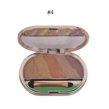 5 Colours Baked Eyeshadow Palette with Brush