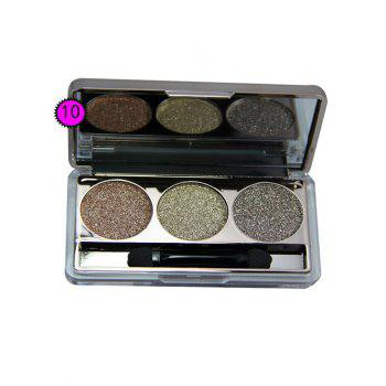 3 Colours Diamond Eyeshadow Palette with Brush