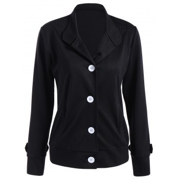 Button Slimming Fitted Thin Cotton Jacket