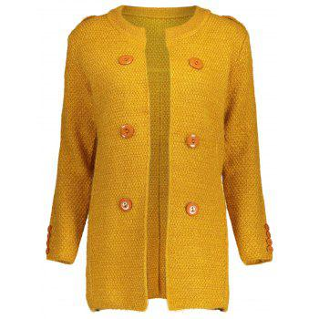 Button Long Chunky Cardigan