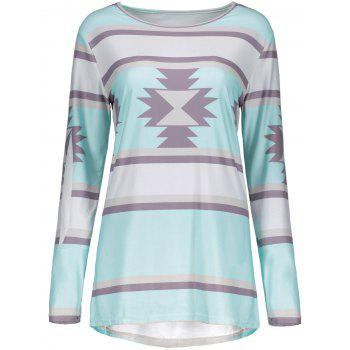 Stripe Printed Long Sleeve T-Shirt