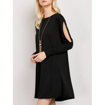 Cut Out Mini Long Sleeve Dress