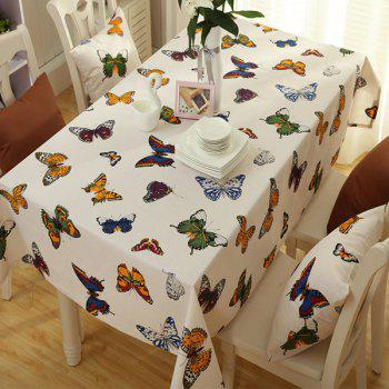 Home Decoration Butterfly Print Kitchen Table Linen