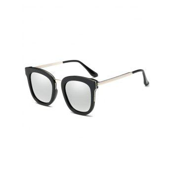 Butterfly Frame Metal Leg Mirrored Oversized Sunglasses
