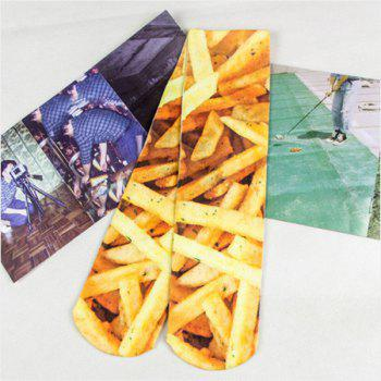 3D Chips Print Crazy Socks