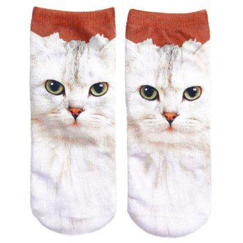 3D Cat Print Crazy Socks