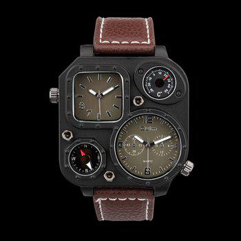 Analog Quartz Watch with PU Leather Watchband