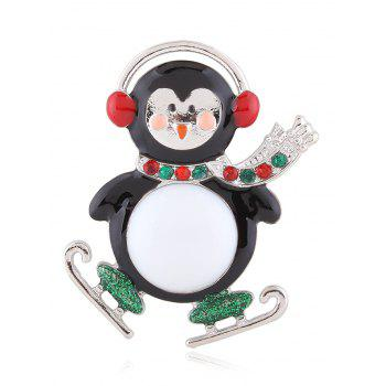 Enamel Rhinestone Cute Monkey Brooch