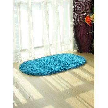 Polyester Fabric Soft Absorbent Antislip Bathroom Carpet - LAKE BLUE LAKE BLUE