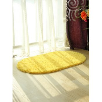Polyester Fabric Soft Absorbent Antislip Bathroom Carpet - YELLOW YELLOW