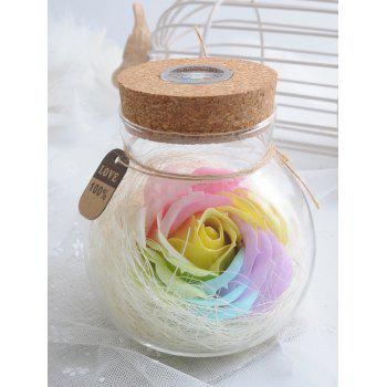 Best Gift Colorful Light Rose Soap Wishing Bottle