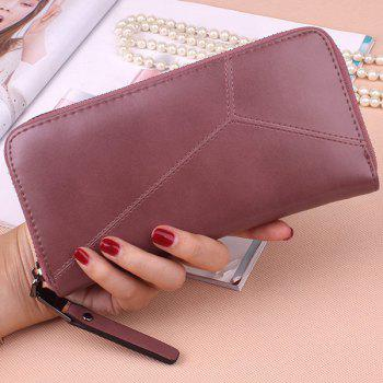 Zip Around PU Leather Wallet - PINKISH PURPLE PINKISH PURPLE