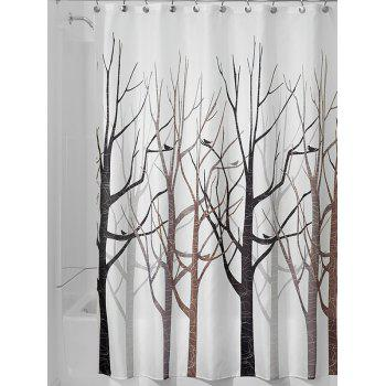 forest print polyester waterproof bath shower curtain