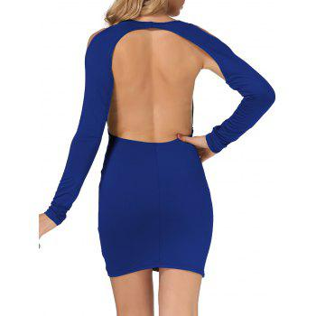 Cold Shoulder dos ouvert Robe moulante - Royal M